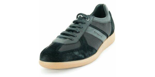 Pánské kožené černé tenisky Geox