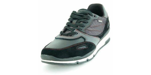 Pánské sportovní boty Geox černo-šedé