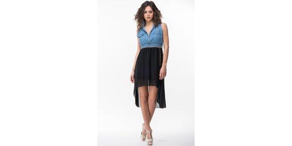 Dámské modro-černé šaty Sixie