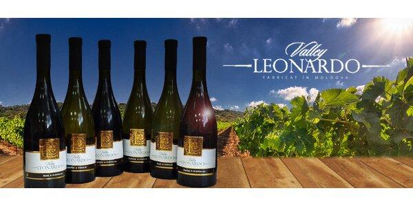 6 moldavských vín z edice Leonardo Valley