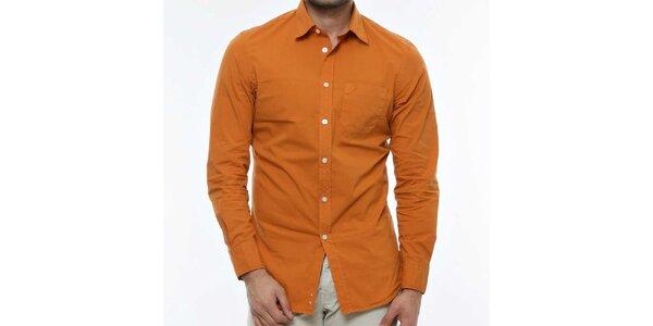Pánská tmavě oranžová košile Nautica