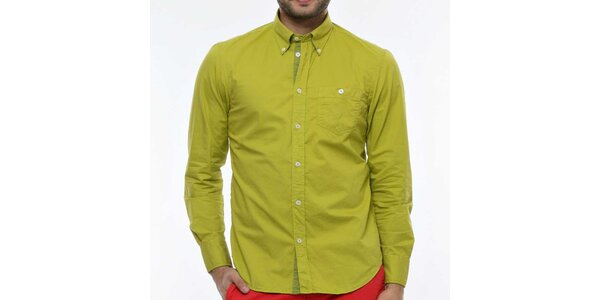 Pánská zelenožlutá košile Nautica