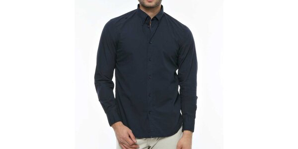Pánská tmavě modrá košile s dlouhým rukávem Nautica