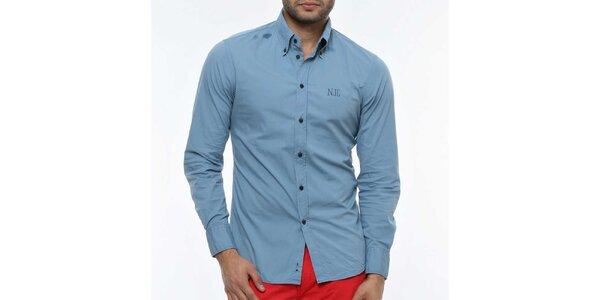 Pánská světle modrá košile s logem Nautica