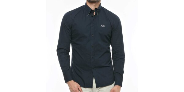 Pánská tmavě modrá košile s logem Nautica
