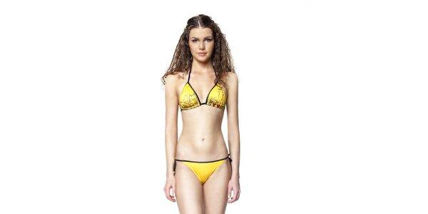 Dámské žluté plavky s potiskem The Bees