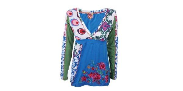 Dámský barevný top s dlouhým rukávem Dislay DY Design