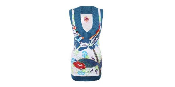 Dámská pestrobarevná tunika bez rukávů Dislay DY Design