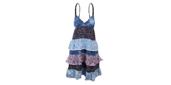 Dámské barevné šaty s volánky Dislay DY Design