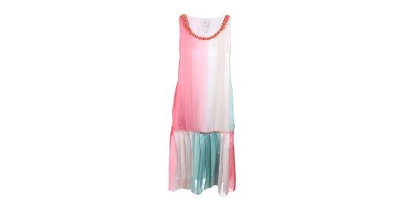 Dámské pestré šaty se skládanou sukní Dislay DY Design