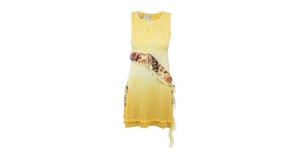 Dámské žluté šaty s kanýrkem Dislay DY Design