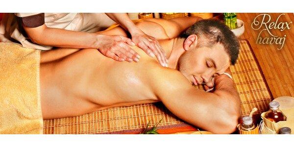 45minutová havajská masáž zad a šíje