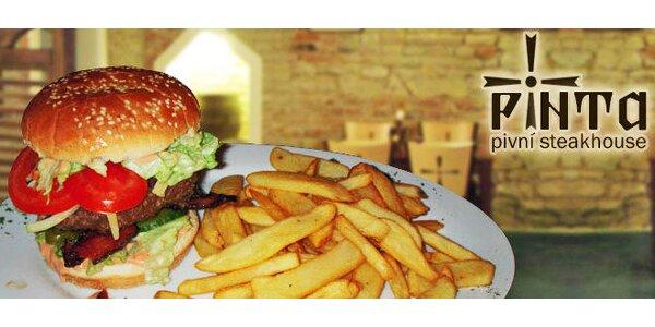 Menu pro 2 - Klokaní hamburger, hranolky a nápoj