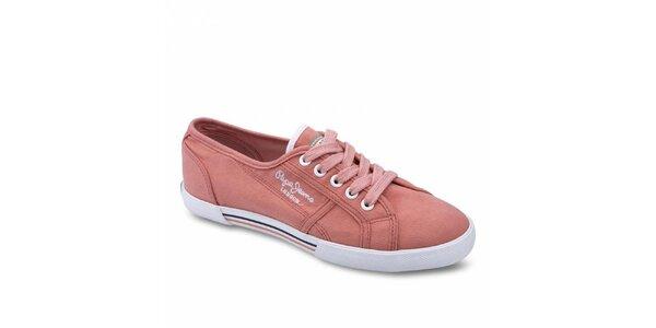 Dámské světle růžové tenisky Pepe Jeans