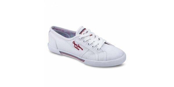 Dámské bílé tenisky Pepe Jeans