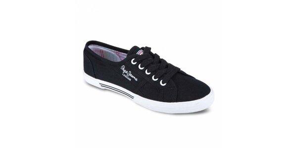 Dámské černé tenisky Pepe Jeans