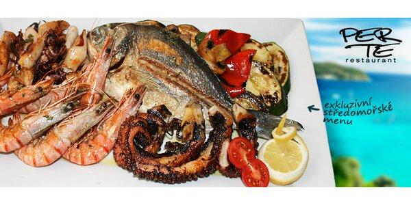 Grilované dary moře v restauraci Per Te (1100 g)