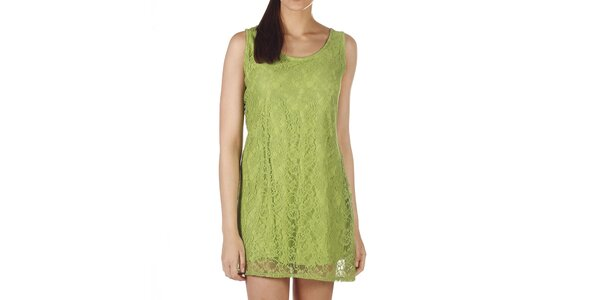 Dámské zelené krajkové minišaty Savage Culture