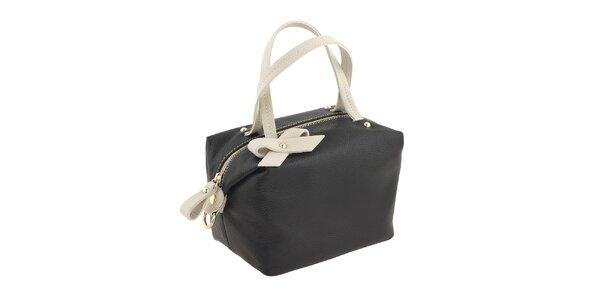 Dámská černo-bílá kabelka Valentina Italy