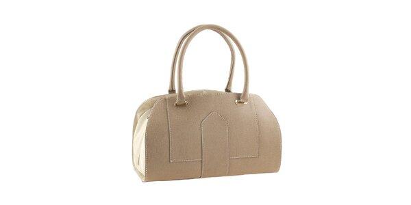 Dámská béžová kufříková kabelka Valentina Italy