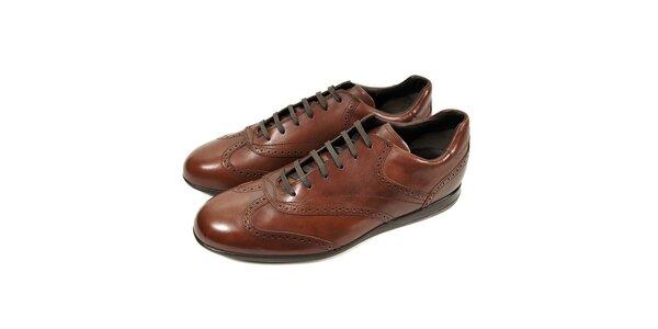 Pánská kožená obuv Bally v hnědé barvě