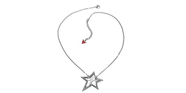 Dámský náhrdelník s hvězdou Guess