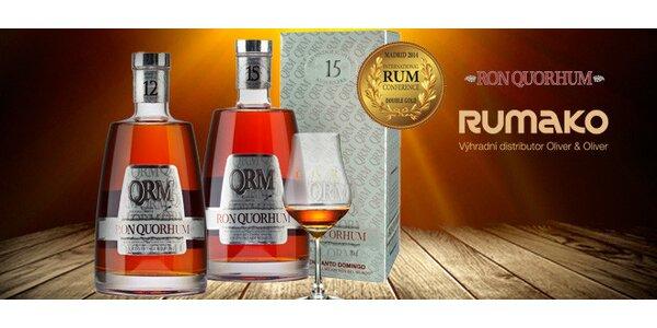 Výjimečné 12leté či 15leté dominikánské rumy