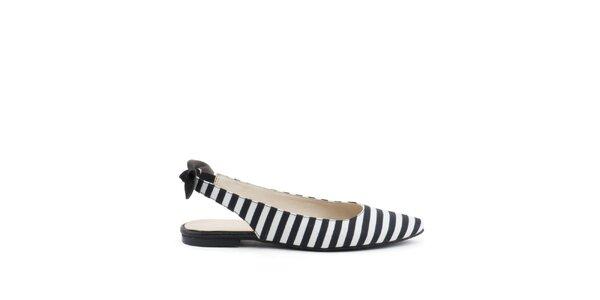 Dámské černo-bílé botky MISU