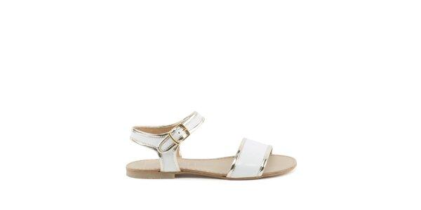 Dámské bílé sandálky MISU