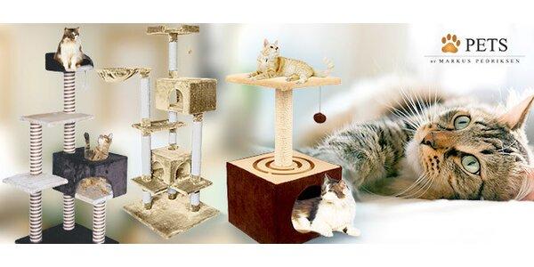 Škrabadla pro kočky s kukaněmi a odpočívadly