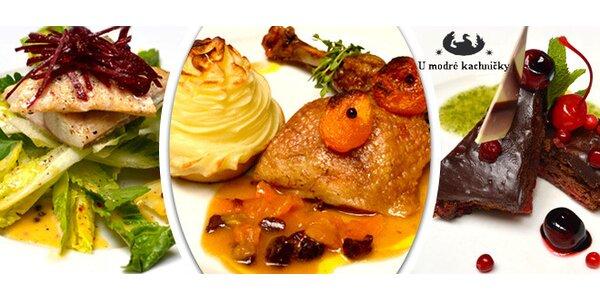 Letní degustační menu U Modré kachničky pro 2 osoby