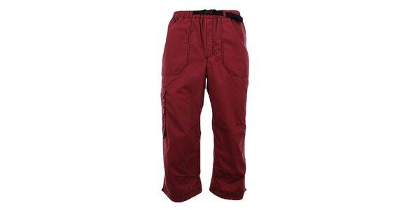 Pánské tmavě červené 3/4 kalhoty Hannah