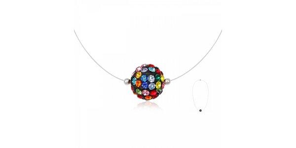 Dámský náhrdelník Miss Jones s pestrobarevným korálkem