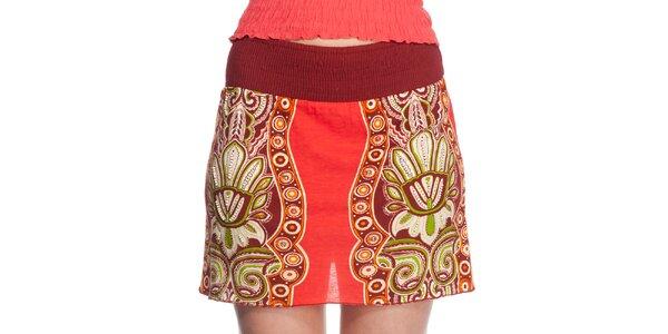 Dámská krátká červená sukně Peace&Love