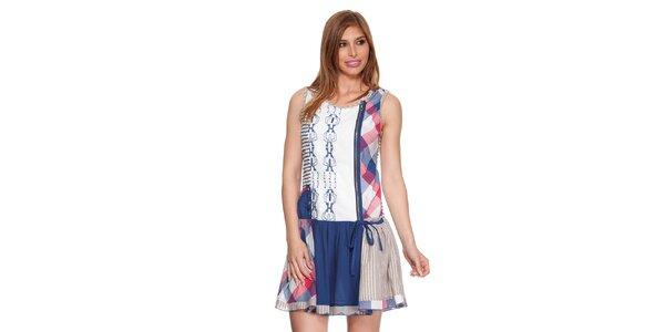 Dámské barevné šaty bez rukávů Peace&Love