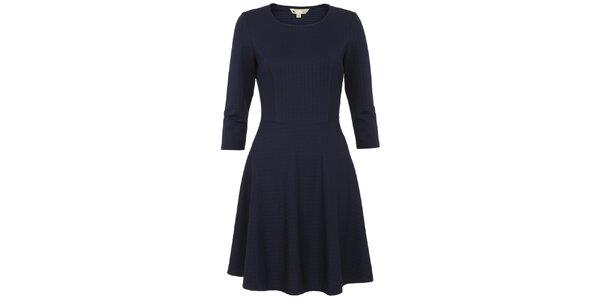 Dámské tmavě modré šaty s delšími rukávy Yumi