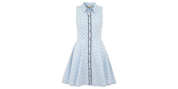 Dámské světle modré šaty bez rukávů Yumi