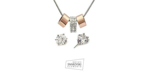 Dámská sada šperků Swarovski Elements - náušnice a náhrdelník