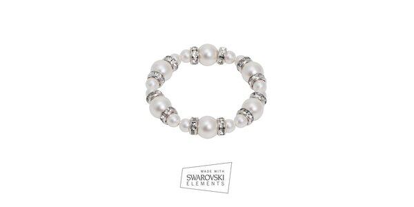 Dámský perlový náramek Swarovski Elements
