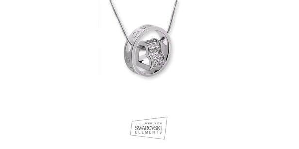 Dámský náhrdelník s dvojitým přívěskem Swarovski Elements