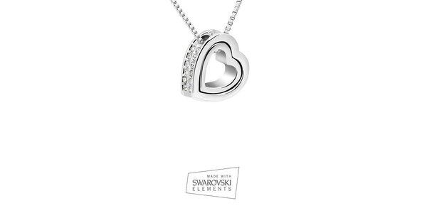 Dámský náhrdelník se srdcovým přívěskem Swarovski Elements