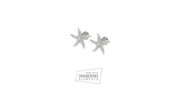 Dámské hvězdicové náušnice s kamínky Swarovski Elements