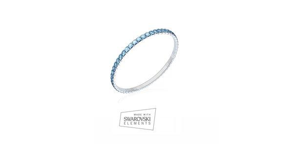Dámský náramek zdobený modrými kamínky Swarovski Elements