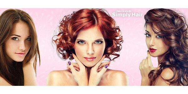 Stylový dámský střih v Simply Hair