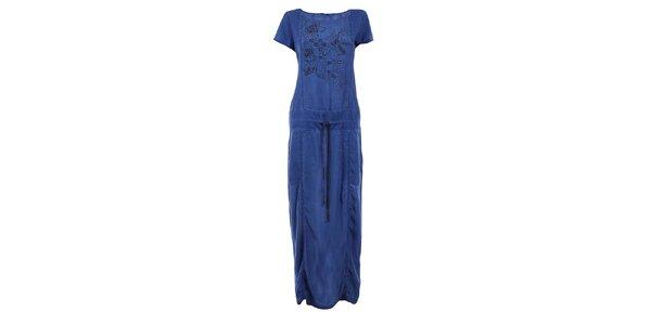 Dámské tmavě modré dlouhé šaty Angels Never Die