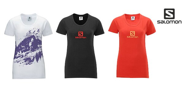 Dámská trička Salomon Mount Logo a Poly Logo