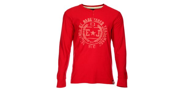 Pánské červené triko Exe Jeans s potiskem