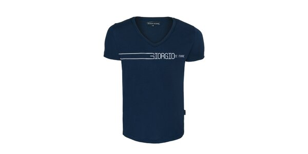 Pánské modré véčkové tričko Giorgio di Mare