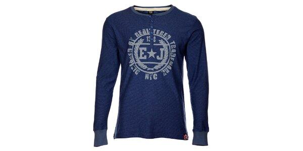 Pánské modré triko Exe Jeans s potiskem