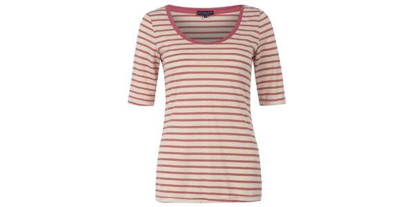 Dámské korálově pruhované tričko Hot Squash